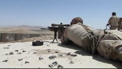 Soldiers taking target practice(HD) C Stock Footage