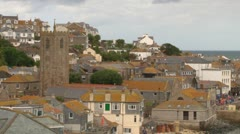 St Ives Panoramic Stock Footage