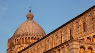 Sunset Light on Cathedral in Pisa, Tuscany, Italy, Tourists Attraction, UNESCO Stock Footage