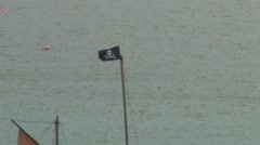 Pirate Flag Stock Footage