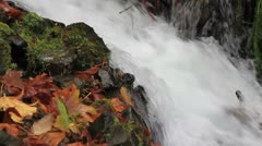 Wahkeena Falls on Columbia Highway Stock Footage
