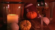 Thanksgiving lay out football background cutaway transition holiday together Stock Footage