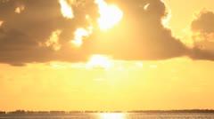 Manihi Sunset Stock Footage