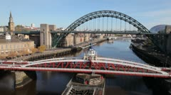 Bridges on the Tyne, Newcastle Stock Footage