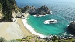 McWay Falls, Julia Pfeiffer Burns State Stock Footage