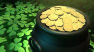 Stock Video Footage of Pot-o-Gold