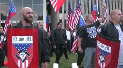 Stock Video Footage of Neo-Nazi pride - Neo-Nazi Rally NSM - Pomona, CA - Nov 5, 2011