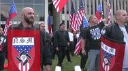 Neo-Nazi pride - Neo-Nazi Rally NSM - Pomona, CA - Nov 5, 2011 Stock Footage