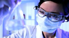 Laboratory Assistant in Close up Stock Footage