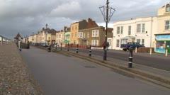 Burnham-on-Sea Pier Promenade Stock Footage