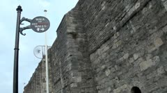 Southampton Old Town Wall Stock Footage