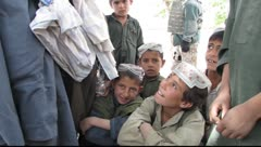 Afghani children(HD) C - stock footage