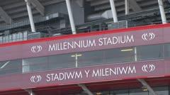 Millennium Stadium Stock Footage