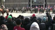 Stock Video Footage of Standoff - Neo-Nazi Rally NSM - Pomona, CA - Nov 5, 2011