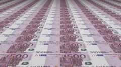 Euro Currency Banknote Background - stock footage