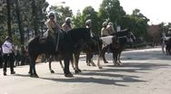 Stock Video Footage of Riot Police Horses - Neo-Nazi Rally NSM - Pomona, CA - Nov 5, 2011