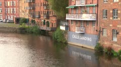 Leeds River Aire Warehouses Stock Footage