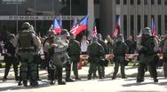 Stock Video Footage of Riot Police Heavily Deployed - Neo-Nazi Rally NSM - Pomona, CA - Nov 5, 2011