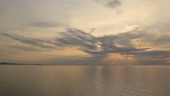 Beautiful sky over the ocean - stock footage
