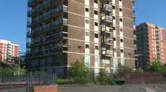 Disused Tower Block Stock Footage
