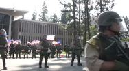 Stock Video Footage of Riot Police Deployed Track - Neo-Nazi Rally NSM - Pomona, CA - Nov 5, 2011