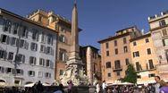 Rome Piazza della Rotonda Macuteo obelisk Pantheon 01 Stock Footage