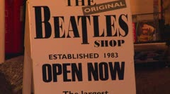 The Beatles Shop Stock Footage