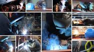 Stock Video Footage of Welder at work