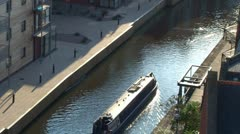 Canal Barge - stock footage