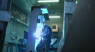 Stock Video Footage of Manual worker welding in industrial area