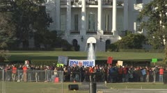 Keystone XL pipline protest at White House Stock Footage