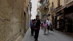 Streets of Valetta 2 - stock footage