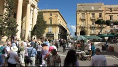 Streets of Valetta 3 - stock footage
