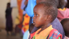 Closeup of African children faces Stock Footage