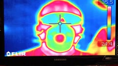 Thermal imaging. human face - stock footage