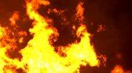 A huge fire burning, seamless loop Stock Footage