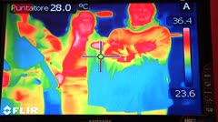 FLIR, thermoinfrared - stock footage
