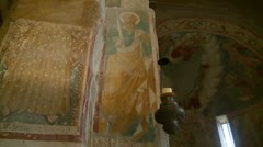 Umbria church wall painting Stock Footage