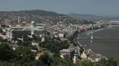 HD Aerial View of Budapest, Buda Castle (Budavari Palota), Royal Palace Stock Footage
