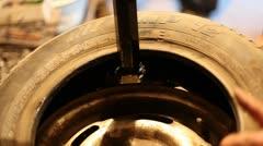 Tire Repairing Stock Footage