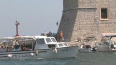 Tourist boat, Dubrovnik, Croatia - stock footage