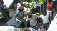 Street market in Haiti Stock Footage
