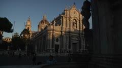 Catania. Dome. Elephant fountaine. Stock Footage
