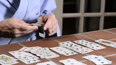 Solitaire and medication 6 Stock Footage