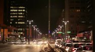 Stock Video Footage of TIME LAPSES RUA PAULISTA
