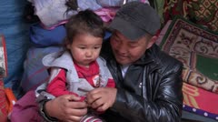 Mongolia: Family Time Stock Footage