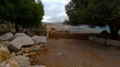 A Nimrod Fortress courtyard in Israel. Stock Footage