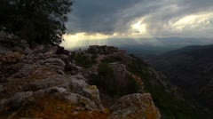 Nimrod Fortress and the valley below in Israel. Stock Footage