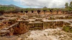 the Palace of Agrippa ruins in Israel. - stock footage