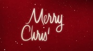 Stock Video Footage of Drawing Merry christmas text with snow and stars